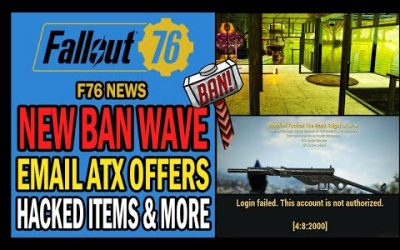 New Ban Wave! Email ATX Offers, Bold Hackers, Griefing, PTS Update & More | Fallout 76 News