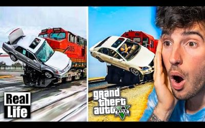 GTA 5 VS VIDA REAL!! #1 GRAND THEFT AUTO V EN LA VIDA REAL