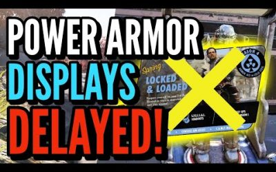 Fallout 76 Power Armor Display Delayed, Bug, Do Not Buy Emote,  New Daily Ops Reward List Uncommon!