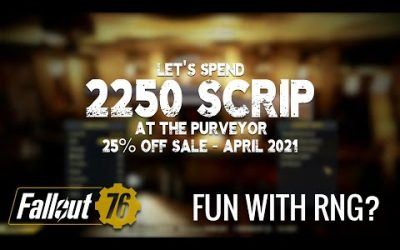 Spending 2250 Scrip at The Purveyor in Fallout 76 – April 2021 Sale Edition